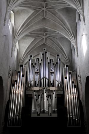 Große Orgel, Pedaltürme, Brustwerk, Hauptwerk