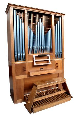Kleine Orgel mit einem Manual und Pedal