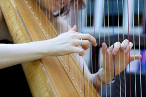 Harfe-Spielweise