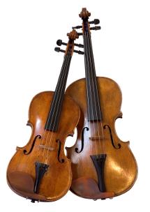 Violine und Bratsche
