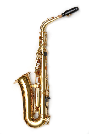 Altsaxophon linke Seite (Fotolia)